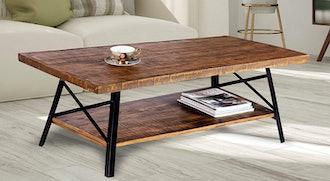 "Olee Sleep 46"" Cocktail Wood & Metal Legs Coffee Table"