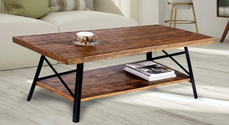"Olee Sleep 46"" Cocktail Wood & Metal Legs Coffee Table"