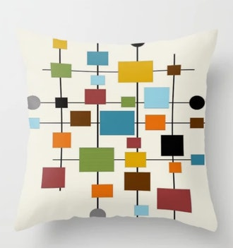 Mid-Century Modern Art 1.3 Throw Pillow