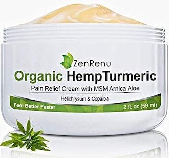 ZenRenu Organic Hemp Pain Relief Cream