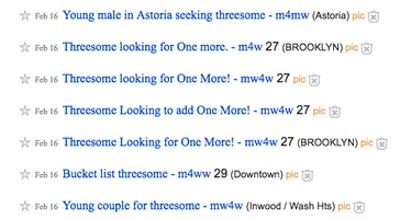 threesome craigslist
