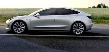 A rendering of the Tesla Model 3