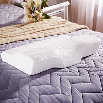 Dream Memory Foam Cervical Contour Pillow - Ergonomic Neck Pillow with Orthopedic Design