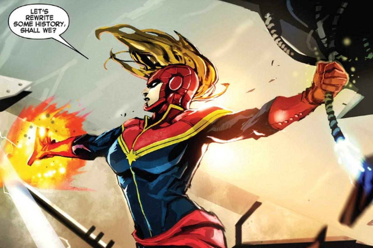 Captain Marvel in a Marvel Comic