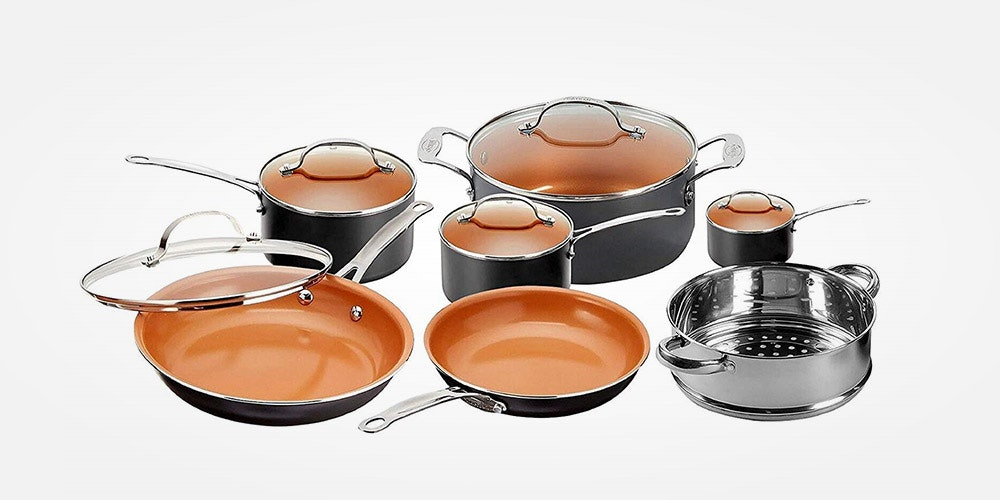 Gotham Steel Ti-Cerama 12-Piece Kitchen & Cookware Set