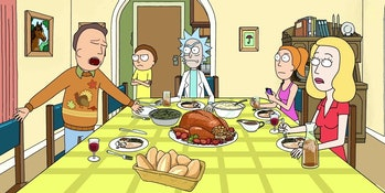 rick and morty thanksgiving
