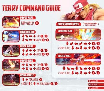 terry command input guide smash ulitmate