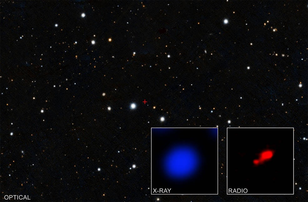 NASA's Chandra X-ray Observatory image reveals shrouded black hole