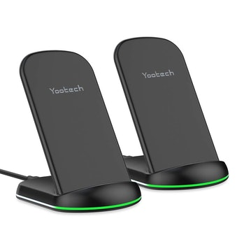Yootech Wireless Charger,[2 Pack] 10W Qi-Certified Wireless Charging Stand