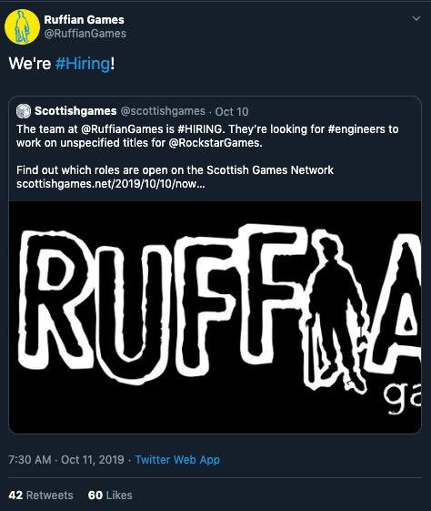 rockstar job listing ruffian games