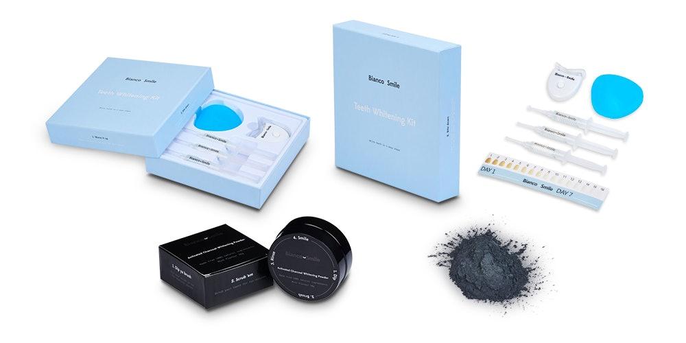Bianco Smile Pro Activated Charcoal Teeth Whitening Bundle: Whitening Gel & Powder