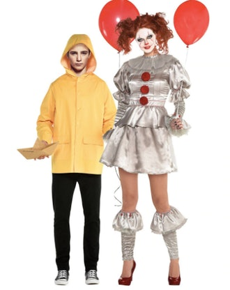 Adult Pennywise & Georgie Couples Costumes - It