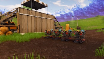 Fortnite shopping carts at the 'racetrack'.