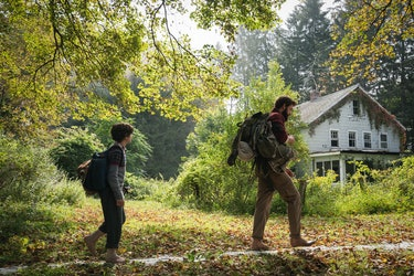 Lee spends a section of 'A Quiet Place' teaching his son survival skills.