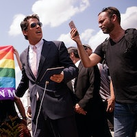 Why the Hell Did Donald Trump's Friend Get Profiled by an LGBT Magazine?