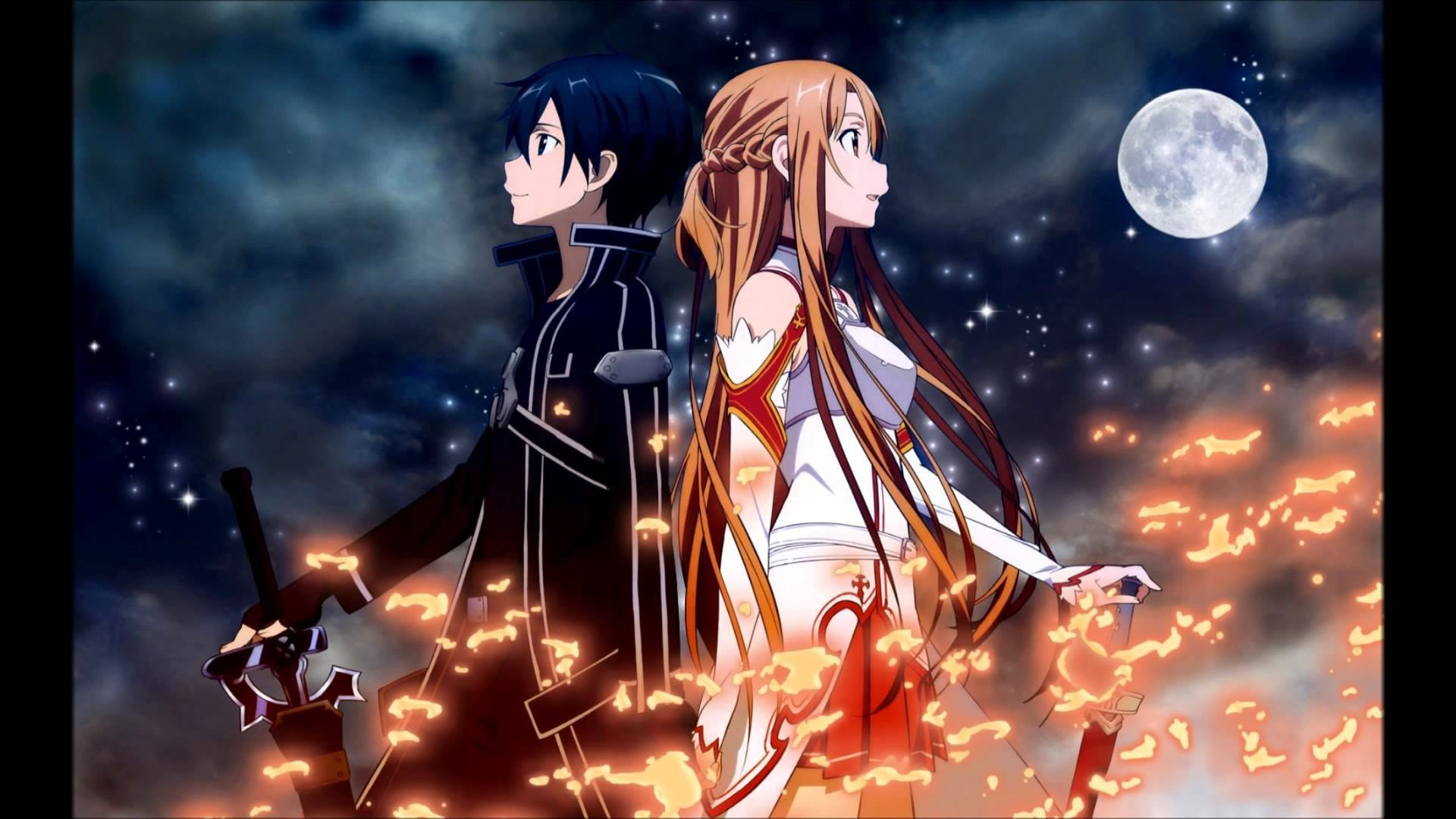 Kirito and Asuna in promotional imagery