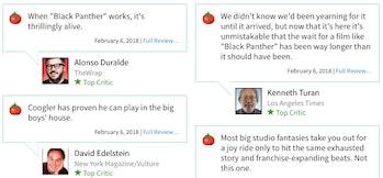 Critics love 'Black Panther' so far.