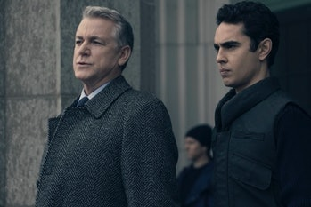 Nick Blaine and Commander Pryce in 'The Handmaid's Tale.'