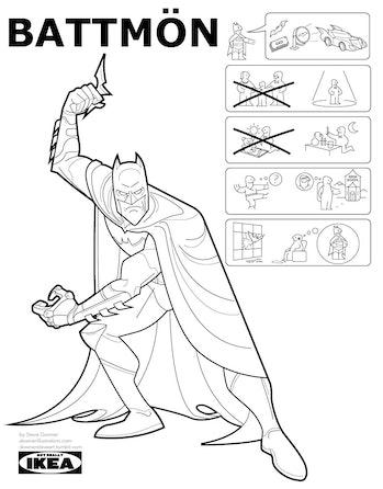 Iconic Superhero Origin Stories as Ikea Instruction Manuals