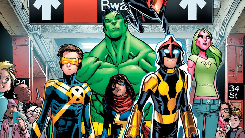 Champions #1 cover for Marvel Comics