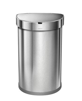 simplehuman 45 Liter / 12 Gallon Stainless Steel Semi-Round Sensor Can