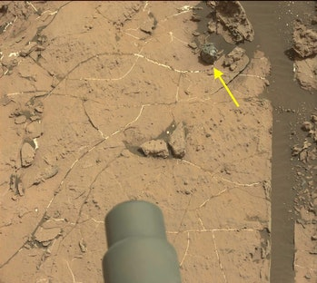 "Curiosity's view of ""Egg Rock."""