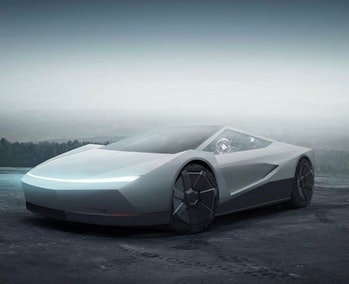 Tesla Cybertruck meets Tesla Roadster.