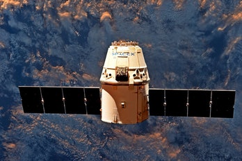 The SpaceX Dragon capsule.