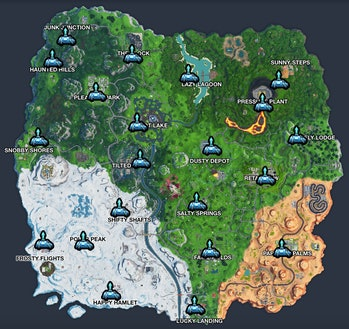 fortnite reboot van season 10 map