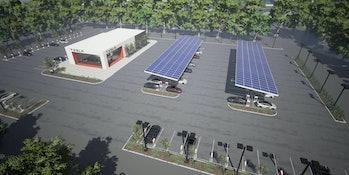 Concept for Tesla Supercharging Station