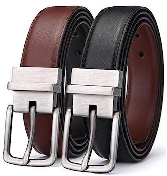 Bulliant Men's Reversible Leather Belt