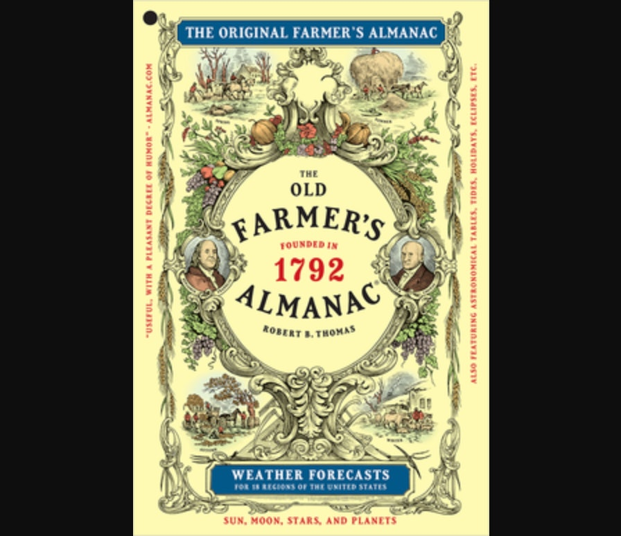 cover of old farmer's almanac