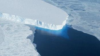 The Thwaites Glacier, part of the West Antarctic Ice Sheet.TheThwaites Glacier, part of the West Antarctic Ice Sheet.