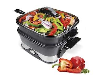 VitaChef Electric Steamer Skillet Cooking System