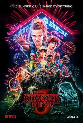 stranger things season 3 poster