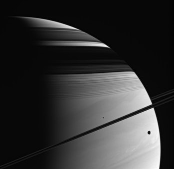 saturn cassini moons rings