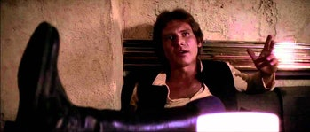 Han Solo...about to shoot first in the original version of 'Star Wars'