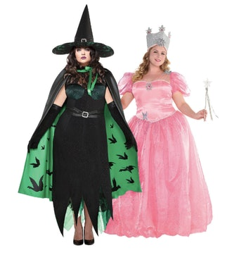 Women's Glinda & The Wicked Witch Couples Costumes Plus Size - Wizard of Oz