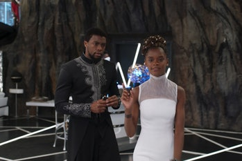 Chadwick Boseman and Letitia Wright in Disney/Marvel's 'Black Panther'