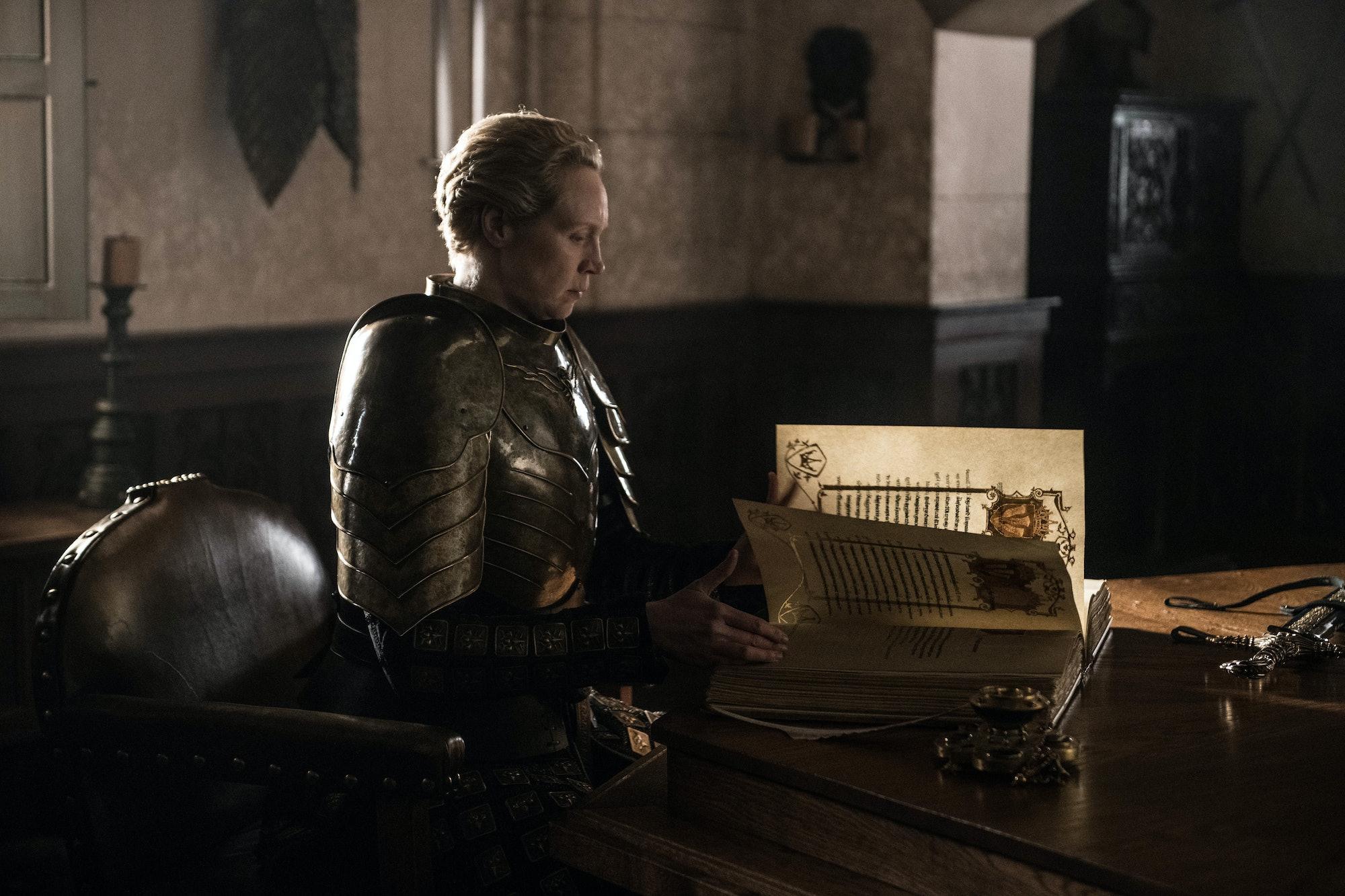 Brienne (Gwendoline Christie) on Game of Thrones