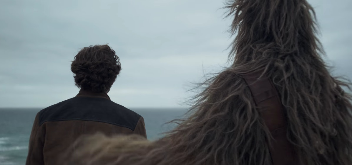 Han and Chewie in the 'Solo' Trailer