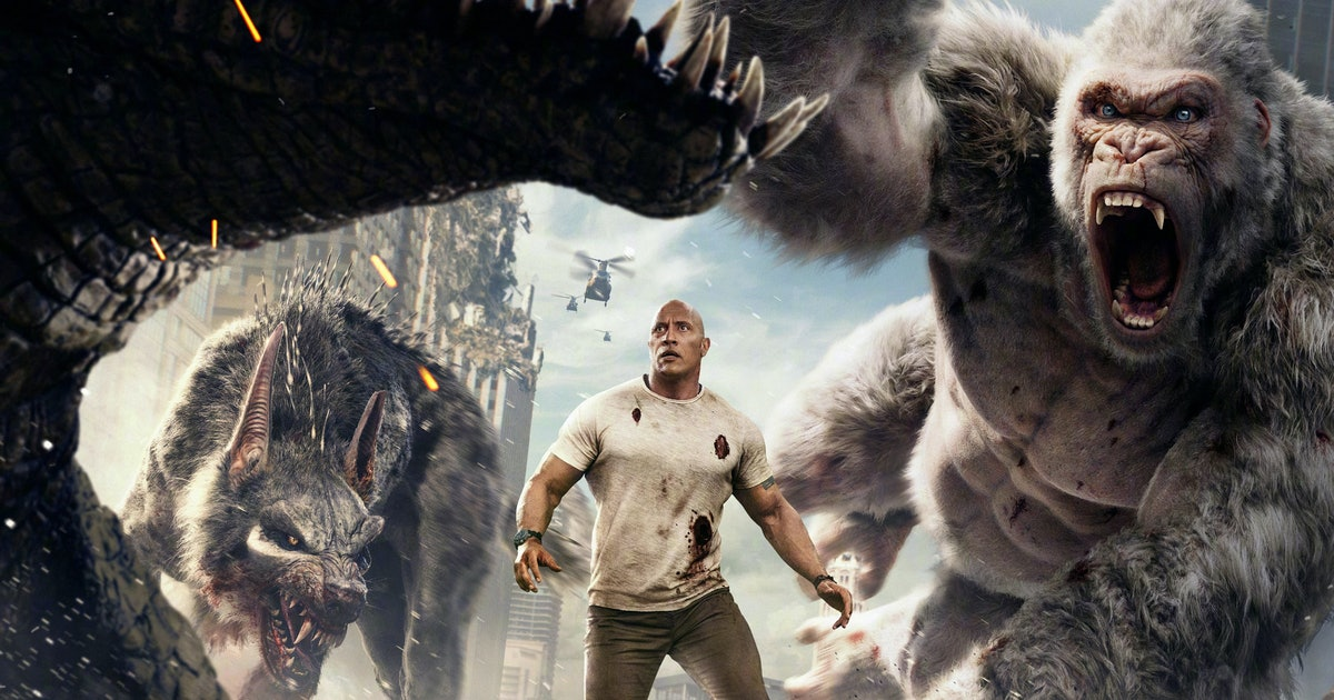 Rampage Review The Rock And A Gorilla S Love Is All That Matters