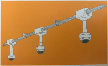 Surveillance systems, like these subway cameras Burrington sketched for her book, are the most visib...