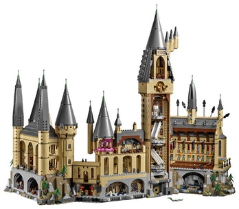 A reverse view of the castle. Check out the Mirror of Erised, Wizard Chess board, and Umbridge's off...