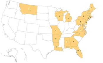 CDC EEE Statistics by State