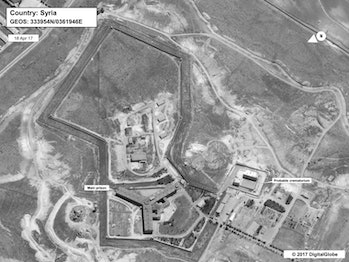 Syria crematorium human rights abuses satellite