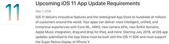 apple ios 11 app update