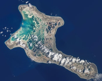 Kiritimati,[1] or Christmas Island, is a Pacific Ocean raised coral atoll in the northern Line Islands. It is part of the Republic of Kiribati.