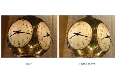 Pixel 4 vs. iPhone 11 Pro 8x digital zoom