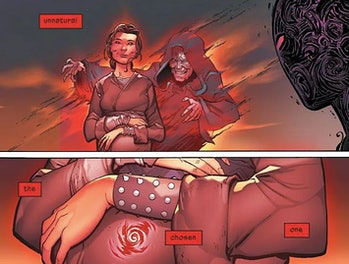 Darth Vader #25 show's Anakin's conception was caused by the Emperor.